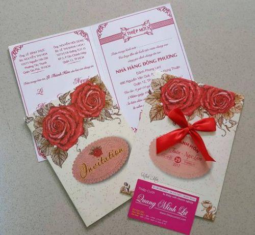 Thiệp cưới offset giá rẻ mẫu mới