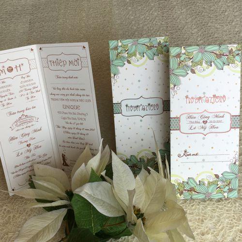 Thiệp cưới offset giá rẻ 2018 mã QG