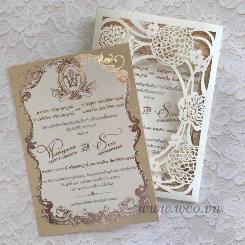 Xu hướng  thiệp cưới đẹp 2018 gồm những dạng nào